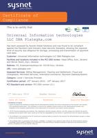 PCI DSS v.3.1 Certificate